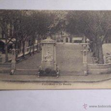 Postales: FIGERAS (LA RAMBLA) CIRCULADA CON FECHA 28-8-28. Lote 46206348