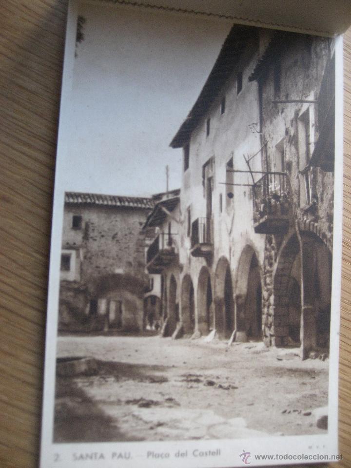 Postales: Santa Pau.Block 6 postales. Huecograbado Rieusset. Barcelona - Foto 3 - 46329413