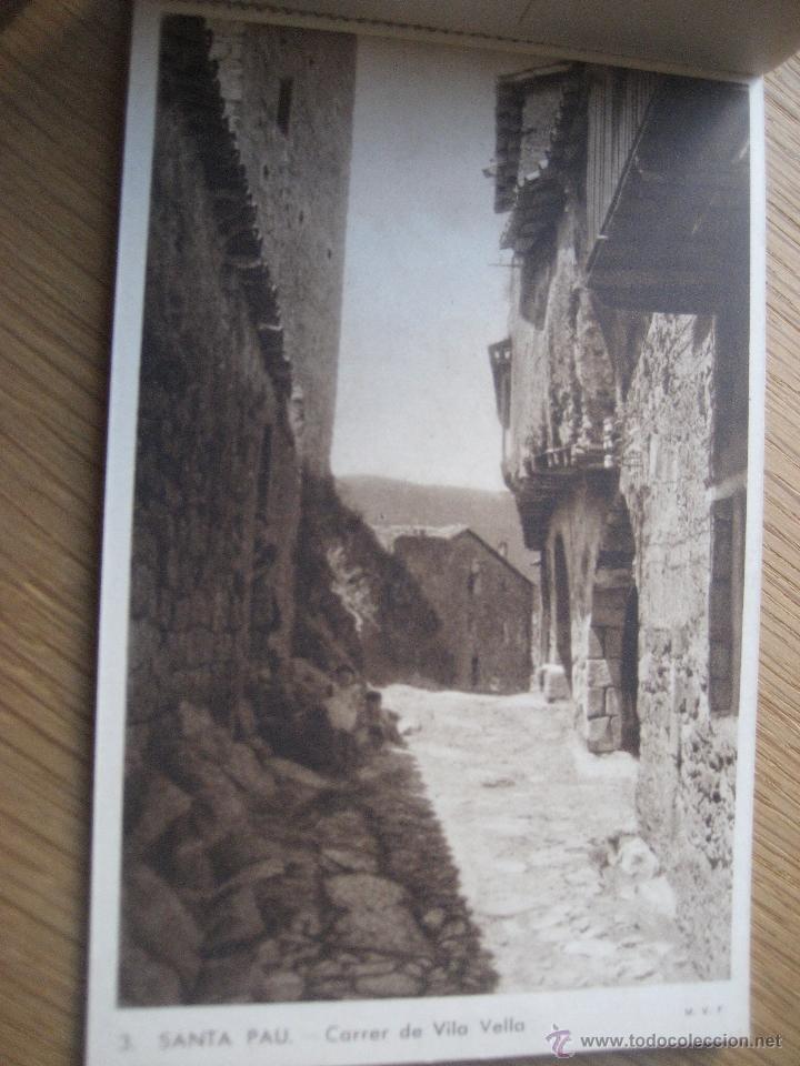 Postales: Santa Pau.Block 6 postales. Huecograbado Rieusset. Barcelona - Foto 4 - 46329413