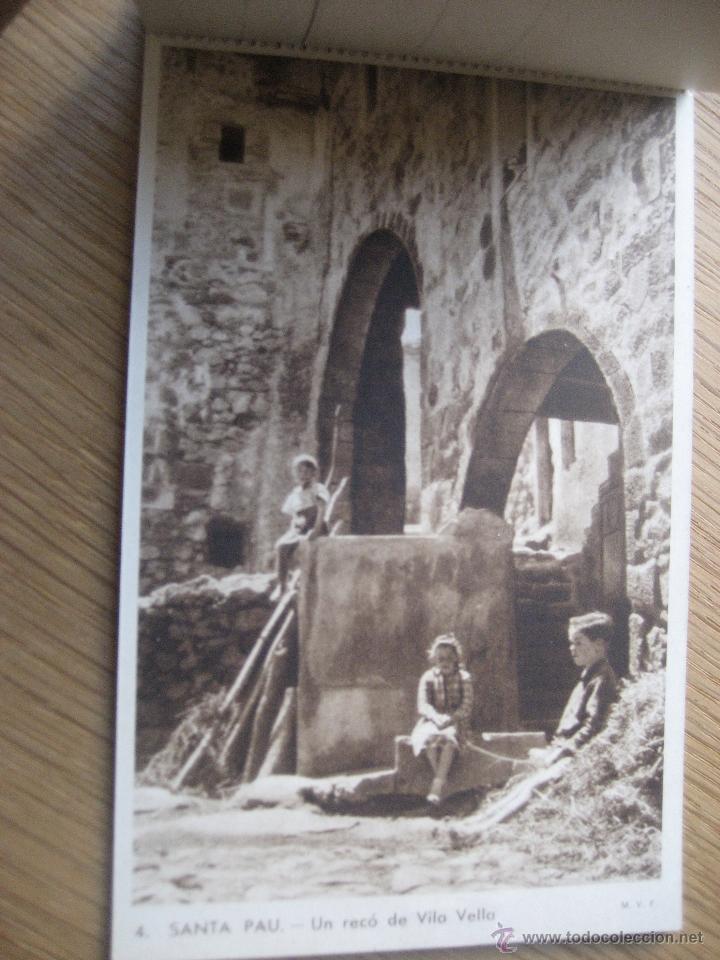 Postales: Santa Pau.Block 6 postales. Huecograbado Rieusset. Barcelona - Foto 5 - 46329413