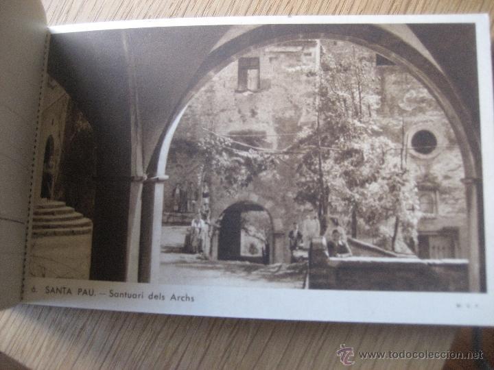 Postales: Santa Pau.Block 6 postales. Huecograbado Rieusset. Barcelona - Foto 7 - 46329413