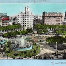 Postales: POSTAL BARCELONA PLAZA CATALUÑA ESCRITA . Lote 46330096