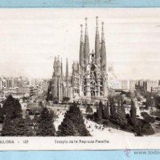 Postales: 1628 BONITA POSTA DE BARCELONA TEMPLO SAGRADA FAMILIA OBRA DE GAUDI CIRCULADA. Lote 46330348