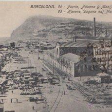 Postales: POSTAL - BARCELONA 90 PUERTO ADUANA Y MONTJUICH - ED. JORGE VENINI SERIE STANDARD - NO CIRCULADA. Lote 46356633