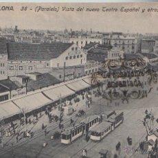 Postales: POSTAL - BARCELONA 36 TRANVIAS PARALELO TEATRO ESPAÑOL JORGE VENINI SERIE STANDARD - NO CIRCULADA. Lote 46361920