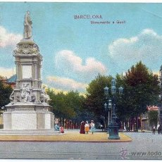 Postales: POSTAL BARCELONA MONUMENTO A GUELL. Lote 46399698