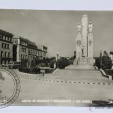 Postales: ANTIGUA POSTAL FOTOGRÁFICA - 24. TARRASA. MUTUA DE SEGUROS Y MONUMENTO CAÍDOS - ESCRITA AL DORSO. Lote 46440959