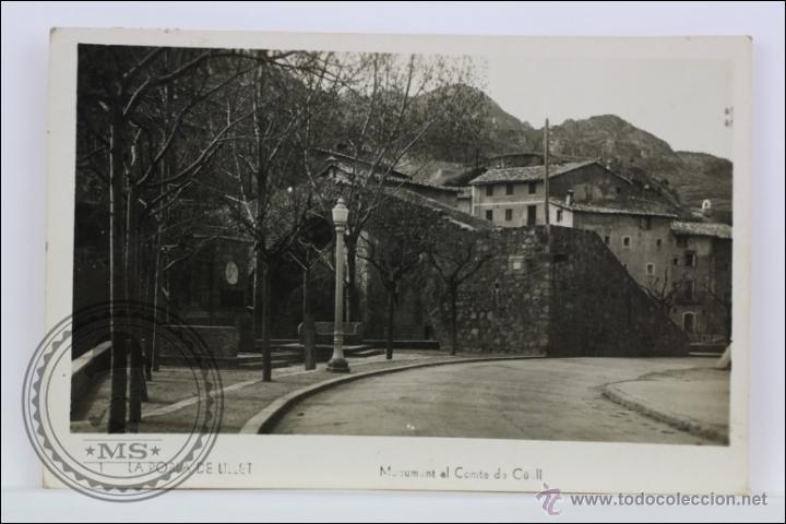 RESERVADA ANTIGUA POSTAL FOTOGRÁFICA - 1. LA POBLA DE LILLET. MONUMENT AL COMTE DE GÜELL - CIRCULADA (Postales - España - Cataluña Moderna (desde 1940))