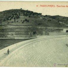 Postales: POSTAL RIUDECANYES RESCLOSA PANTANO CIRCULADA 1918 THOMAS. Lote 46467002