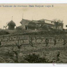 Postales: J.B. SAN LORENZO DE HORTONS - CASA SANJUST VIEJO POSTAL FOTOGRAFICA. Lote 46471194