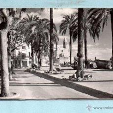 Postales: 1684 POSTAL DE SITGES DETALLE PASEO RIBERA CIRCULADA. Lote 46493761