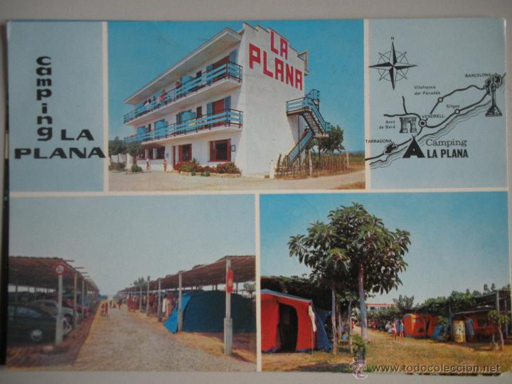 - MAGNIFICA POSTAL DE - CAMPING LA PLANA -. CREIXELL - TARRAGONA - (Postales - España - Cataluña Moderna (desde 1940))