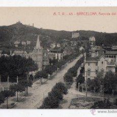 Postales: BARCELONA. AVENIDA DEL TIBIDABO.. Lote 46558960