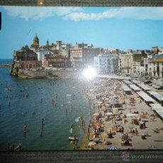 Postales: ANTIGUA POSTAL SITGES - BARCELONA - PLAYA DE ORO - PLAYA DE SAN SEBASTIAN VISTA GENERAL - ESCUDO ORO. Lote 46629644