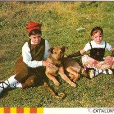 Cartoline: CATALUNYA TÍPICA, DESCANSANT AMB EL GOS - J. ALEBESQUE Nº 12 - SIN CIRCULAR. Lote 46691069