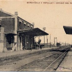 Postales: SARDAÑOLA Y RIPOLLET.- ESTACIÓN DEL FERROCARRIL. Lote 46748445