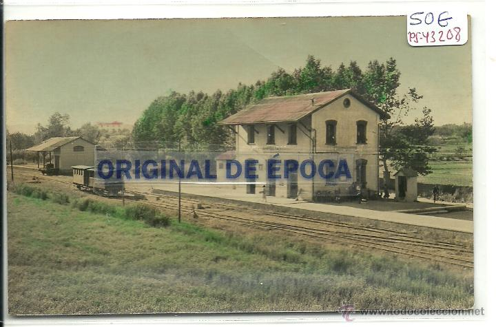 (PS-43208)POSTAL DE LA ALDEA(TARRAGONA)-ESTACION DE FERROCARRIL DE AMPOSTA (Postales - España - Cataluña Moderna (desde 1940))