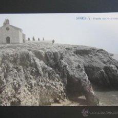 Postales: POSTAL BARCELONA, SITGES. ERMITA SAN SEBASTIAN. Lote 47110159