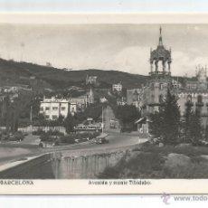 Postales: BARCELONA Nº 209 .- AVENIDA Y MONTE TIBIDABO .- EDICION J.V.B. .- SIN CIRCULAR. Lote 47137417
