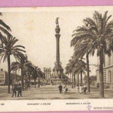 Postales: POSTAL DE BARCELONA - MONUMENT A COLOM COLON Nº100 DE ZERKOWITZ ADOLFO. Lote 47171992