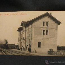 Postales: POSTAL - CALDAS DE MALAVELLA - ESTACION -. Lote 47221151