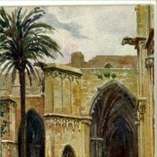 Postales: POSTAL CATALUÑA ARTISTICA BARCELONA CLAUSTROS DE LA CATEDRAL CIRCULADA1939. Lote 47281122