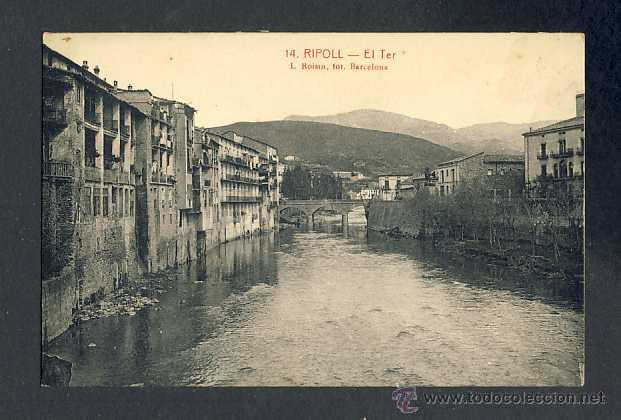 POSTAL DE RIPOLL: EL TER (ROISIN 14) (Postales - España - Cataluña Antigua (hasta 1939))