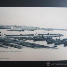 Postales: POSTAL BARCELONA. PANORAMA DE BARCELONA IV. HAUSER Y MENET. PRIMERA EDICIÓN. Lote 47298192