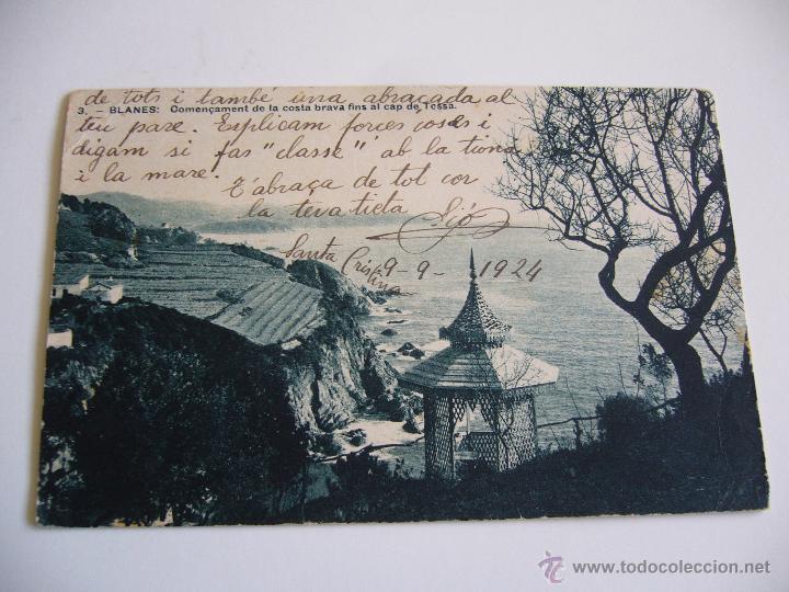 POSTAL ANTIGUA BLANES. COMENÇAMENT DE LA COSTA BRAVA FINS TOSSA. FOT. PONS. ED. ARTAU. MUMBRU (Postales - España - Cataluña Antigua (hasta 1939))