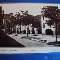 Postales: (PS-43949)POSTAL FOTOGRAFICA DE CASTELLO D´AMPURIES-PASSEIG. Lote 47378754