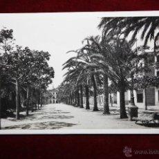 Postales: ANTIGUA FOTO POSTAL DE LLORET DE MAR. GIRONA. PASEO VERDAGUER. SIN CIRCULAR. Lote 287473478