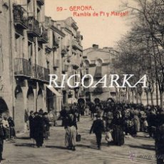 Postales: GERONA.- RAMBLA DE PI Y MARGALL. Lote 47729093