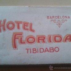 Postales: HOTEL FLORIDA - TIBIDABO - BARCELONA - ALBUM 10 POSTALES L.ROISIN (HACIA 1920) (EN MUY BUEN ESTADO). Lote 47964807