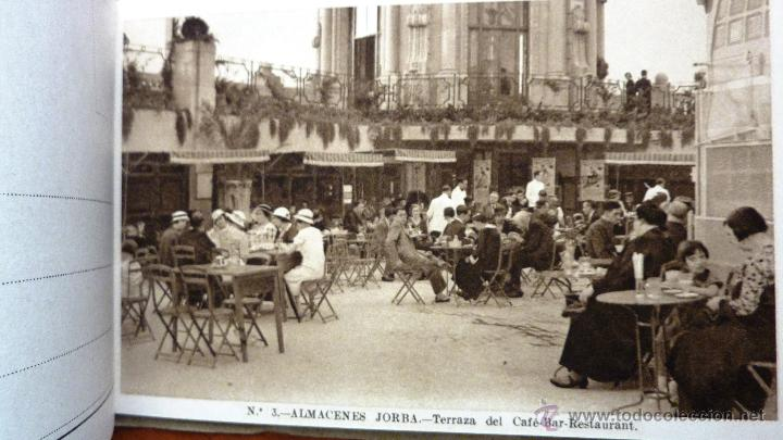 Bloc 12 Postales Vistas Almacenes Jorba Barcelona 1935 Terraza Fuente Bar Salon Serie 1