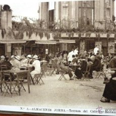 Postales: BLOC 12 POSTALES VISTAS ALMACENES JORBA . BARCELONA 1935 TERRAZA, FUENTE, BAR SALON SERIE 1. Lote 48289187