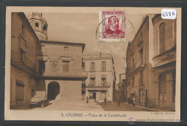CALONGE - PLAÇA DE LA CONSTITUCIO - P6586 (Postales - España - Cataluña Antigua (hasta 1939))