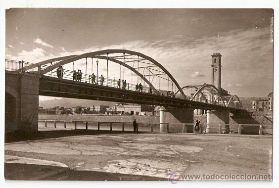 TORTOSA 2. PUENTE DEL ESTADO. FOTO DAUDI. ESCRITA 1963-VELL I BELL. (Postales - España - Cataluña Moderna (desde 1940))