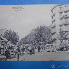 Postales: POSTAL DE BARCELONA. AÑOS 10 30. ENCANTES, MERCADO SAN ANTONIO. NIÑOS, HOMBRES. 1908 TRENKLER. 956. Lote 48458965