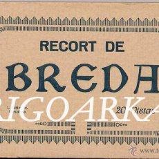 Postales: RECORT DE BREDA (GIRONA).- ÁLBUM COMPLETO 20 POSTALES. Lote 48510115