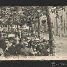 Postales: OLOT Nº 8 .- PASSEIG DEL FIRAL .- FOTO L. ROISIN .- CIRCULADA. Lote 48589935