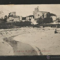 Postales: SANT POL DE MAR Nº 8 .- RIERA I PONT DEL FERROCARRIL .- FOTO L. ROISIN. Lote 48590426