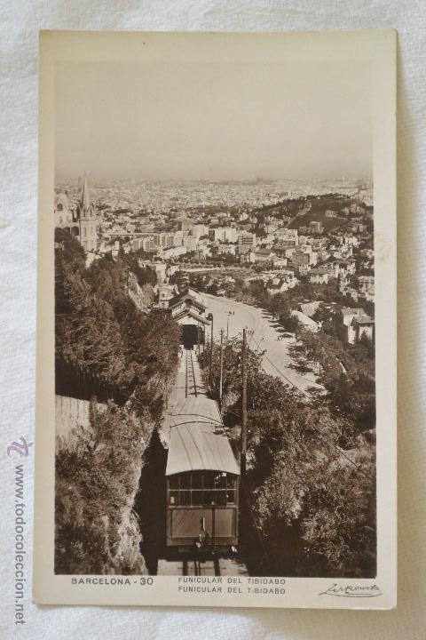 POSTAL FUNICULAR TIBIDABO BARCELONA (Postales - España - Cataluña Antigua (hasta 1939))