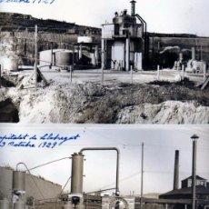 Postales: LOTE DE 4 FOTOGRAFÍAS HOSPITALET DE LLOBREGAT. INSTALACIÓN PARA LA OBTENCIÓN DE BENCENO. VIVES 1929. Lote 48630877