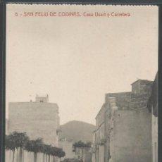 Postales: SANT FELIU DE CODINES - CASA USART Y CARRETERA - P7024. Lote 48641808