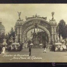 Postales: FIESTAS DE BARCELONA. ARCO-PLAZA DE CATALUÑA. . Lote 48845925