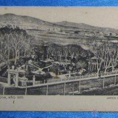 Postales: BARCELONA AÑO 1870. JARDIN DEL GENERAL. SANSOT Y MISSÉ HNOS, BARCELONA.. Lote 49061184
