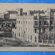 Postales: BARCELONA AÑO 1870. PLAZA DE CATALUÑA. SANSOT Y MISSÉ HNOS, BARCELONA.. Lote 49061215