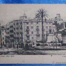 Postales: BARCELONA AÑO 1870. PLAZA JUNQUERAS. SANSOT Y MISSÉ HNOS, BARCELONA.. Lote 49061245