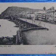 Postales: BARCELONA AÑO 1870. MURALLA DE MAR. SANSOT Y MISSÉ HNOS, BARCELONA.. Lote 49061298