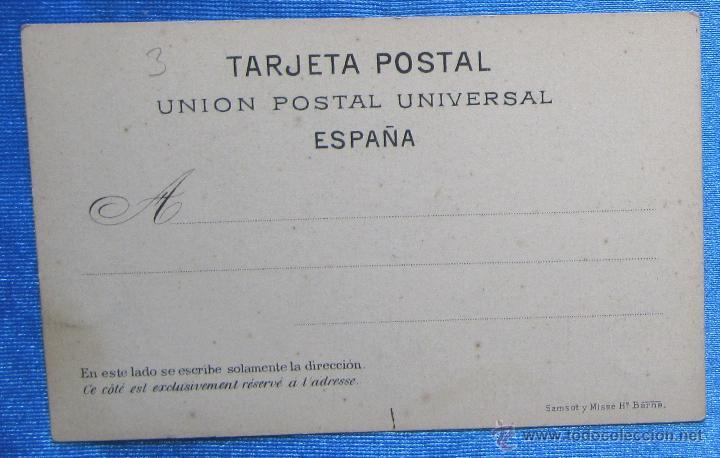 Postales: BARCELONA AÑO 1870. MURALLA DE MAR. SANSOT Y MISSÉ HNOS, BARCELONA. - Foto 2 - 49061298